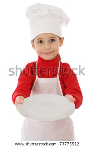 Little cooker with empty dish, isolated on white