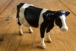 little cow plastic toy
