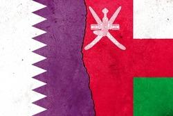 Little crack. Flags: Qatar, Oman