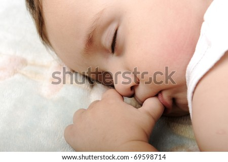Little cute baby sleeping