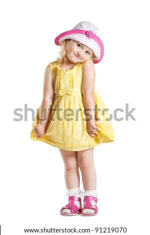 little cute girl in a dress