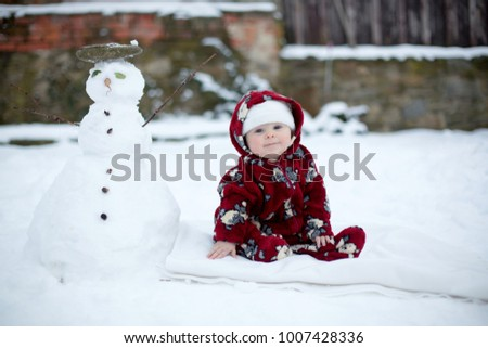 7700c465c Free photos Cute boy in snowsuit