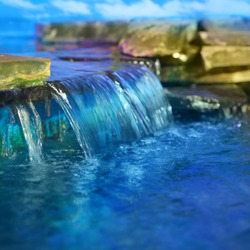 Little decorative waterfall