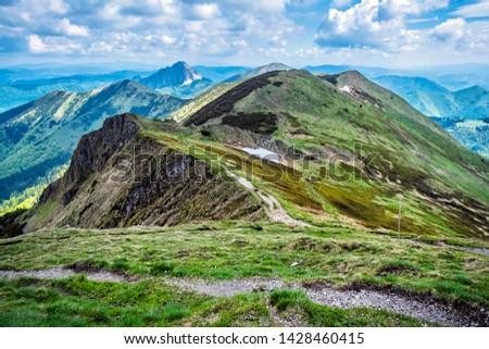 Little Fatra scenery, Slovak republic. Hiking theme. Seasonal natural scene. #1428460415