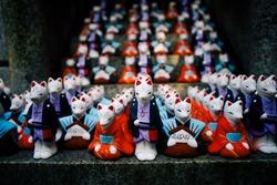 Little Fox Statue Fushimi Inari Shrine