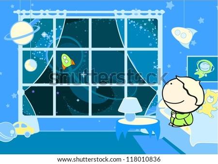 Little future astronaut (raster version)