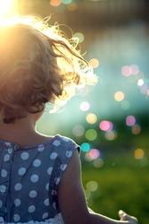 little girl abstract