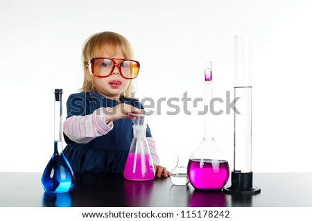 little girl and chemistry