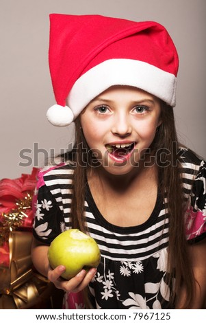 little girl and xmas presents