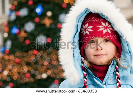 Little girl at Christmas time - portrait