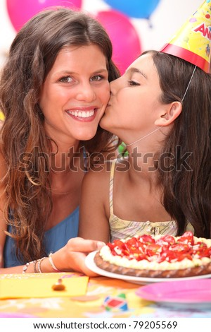 Little girl birthday party - stock photo