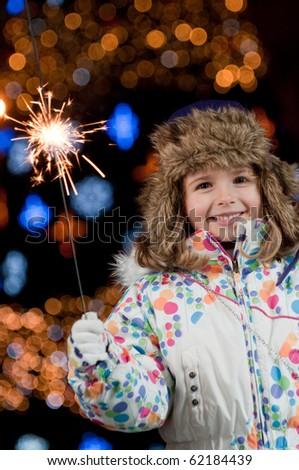 Little girl celebrate Christmas