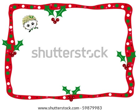Little Girl Christmas Text Box