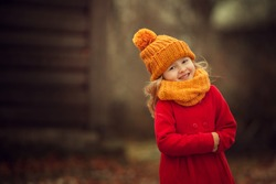 little girl colors of autumn