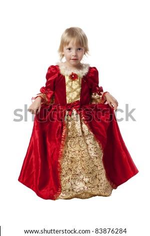 Little girl dressed like a pretty princess