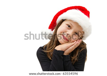 little girl dressed like a santa claus