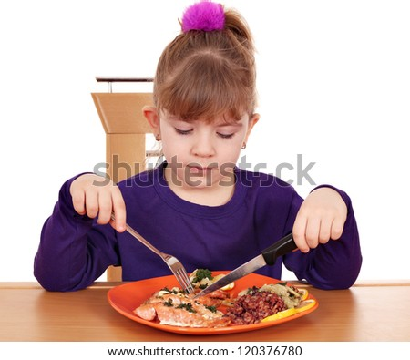 little girl healthy eating