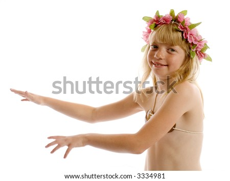 Little girl hula dancing