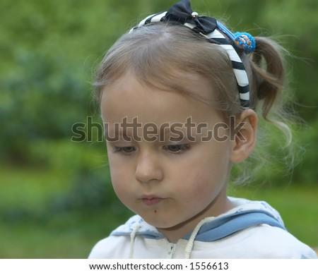 little girl in her dreams