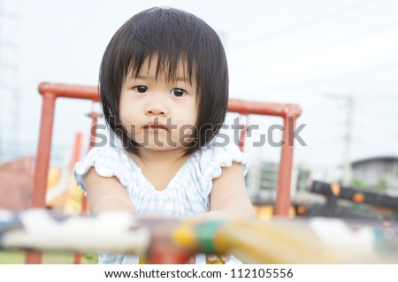 little girl in playground