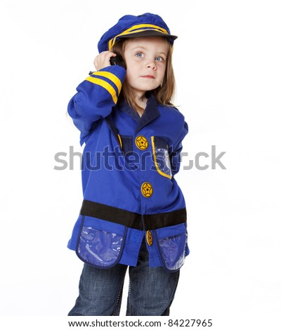 Little Girl in Police Costume