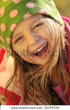 stock photo : Little girl laughing