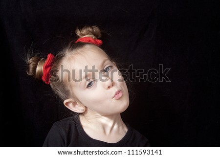 Little Girl Making Silly Face