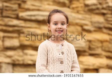 Little girl near the Wailing Wall Stok fotoğraf ©
