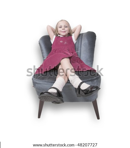 Little girl on chair