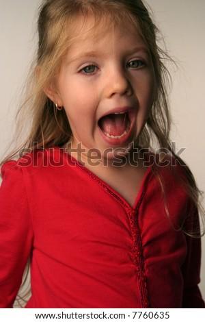 Little Girls Open Mouth