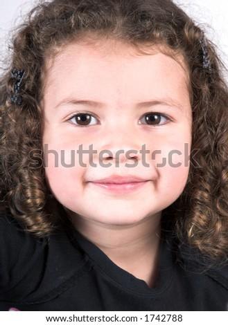 little girl portrait close up