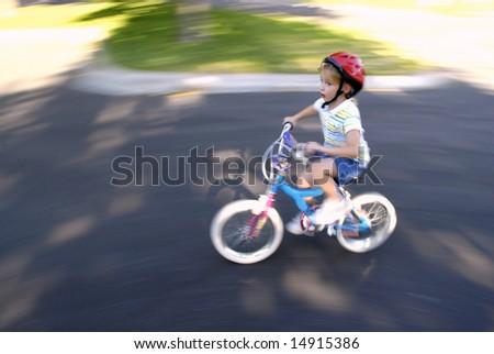 bike riding cartoon. cartoon girl on ike. watcha