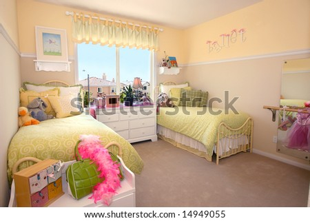 Little girl's bedroom - stock photo