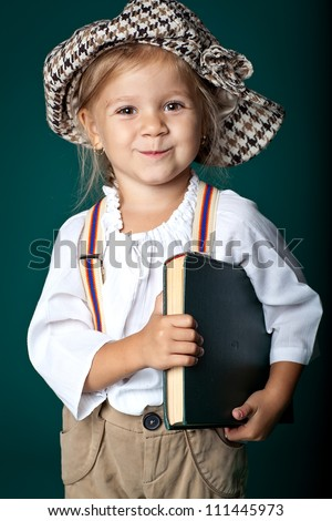 Little girl with a book