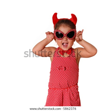 Little Girl with attitude Dressed as the Devil