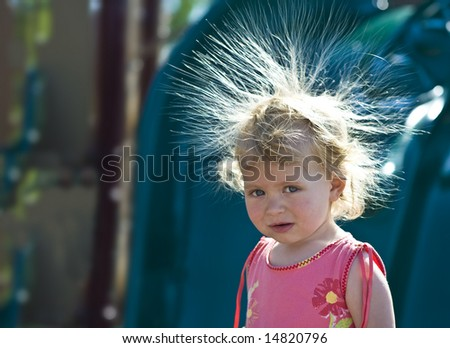 Crazy Hair Clipart. with Crazy Hair (Backlit