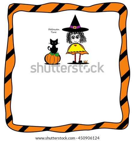 Little Girl With Curls - Halloween - Text Box