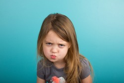 Little girl with sassy expression