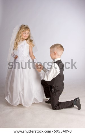 little groom and bride