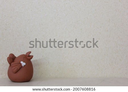 Little Happy Chicken Clay dall Photo stock ©