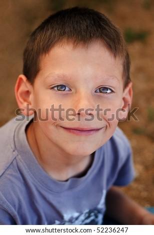 Little happy smiling boy portrait