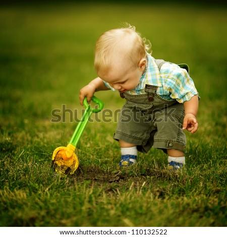 little helper with a shovel