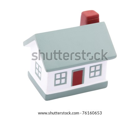 Little house with clipping path