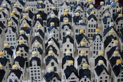 Little houses Delft Blue
