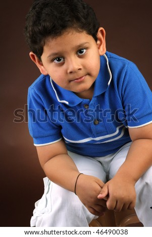 Little Indian boy - stock photo