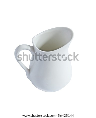 little jug for milk isolated on white