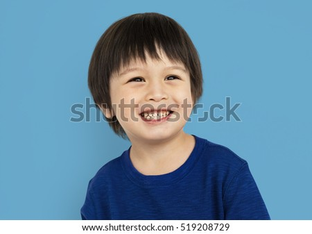 Little Kid Boy Smile Happy Concept #519208729