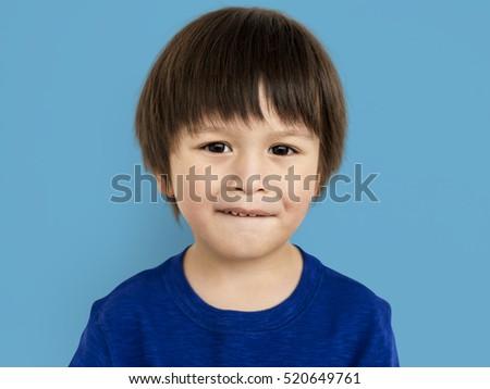 Little Kid Boy Smile Happy Concept #520649761