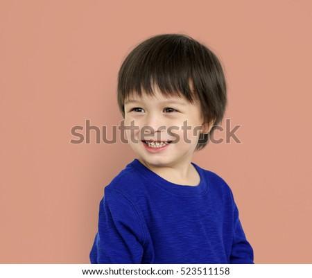 Little Kid Boy Smile Happy Concept #523511158