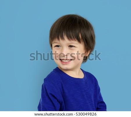 Little Kid Boy Smile Happy Concept #530049826